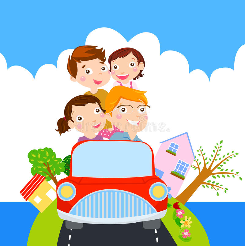 Download Family Time For Vacation Stock Vector Illustration Of Sticker
