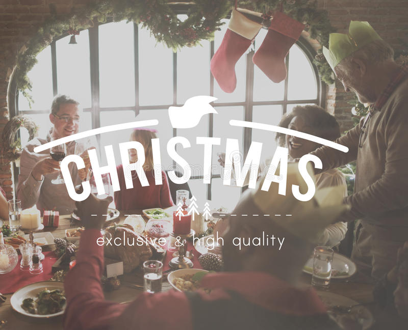 Family Time Wounderful Christmas Happiness Concept royalty free stock image