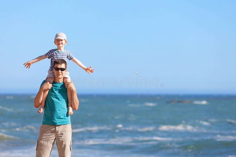 Family Together At The Beach Royalty Free Stock Photos