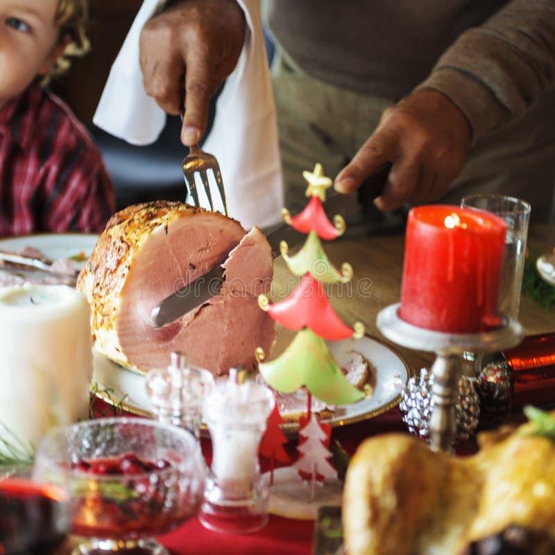 Family Together Christmas Celebration Concept stock photo