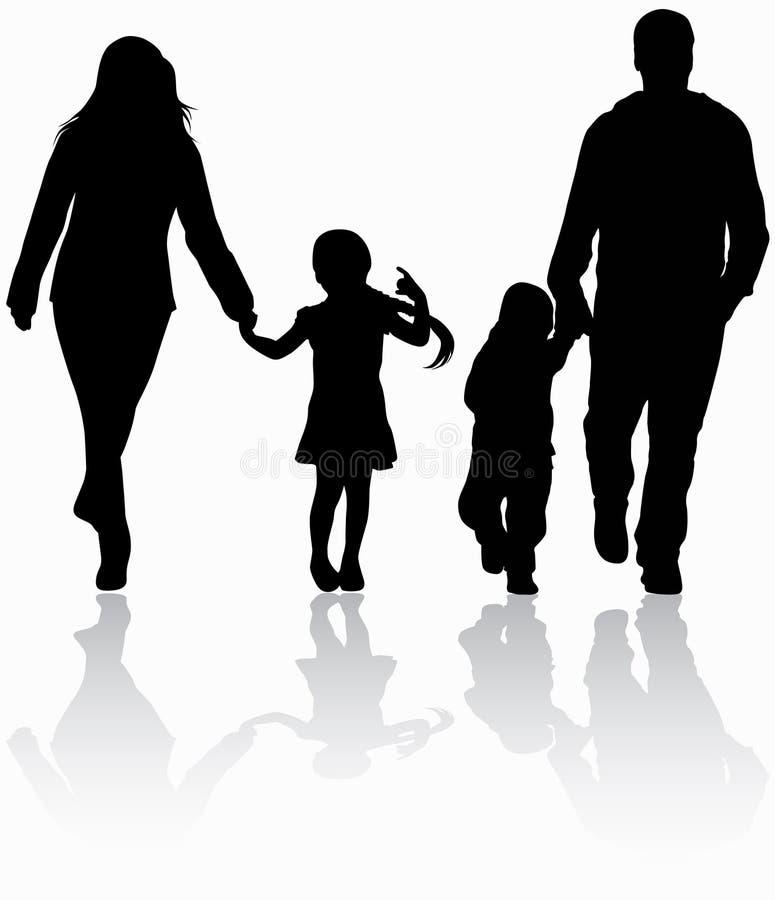 Family together. Happy parents together vector illustration