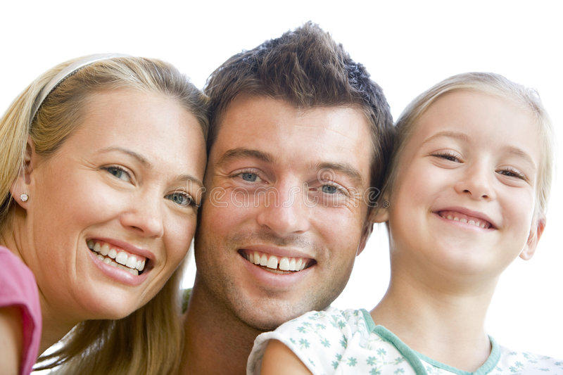 Family together smiling stock image