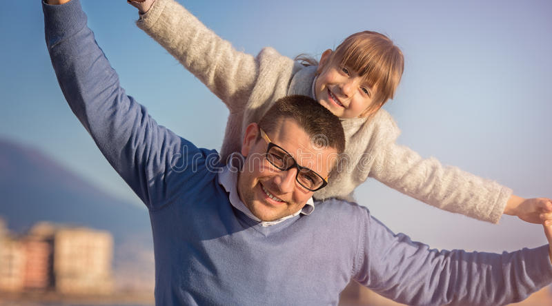 Family, tourism, vacation, business concept stock photo