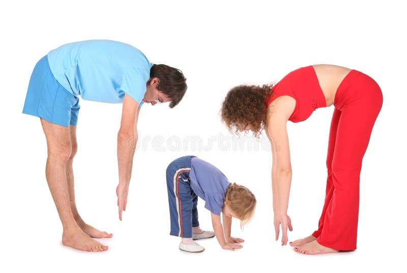 Family training fitness stock image