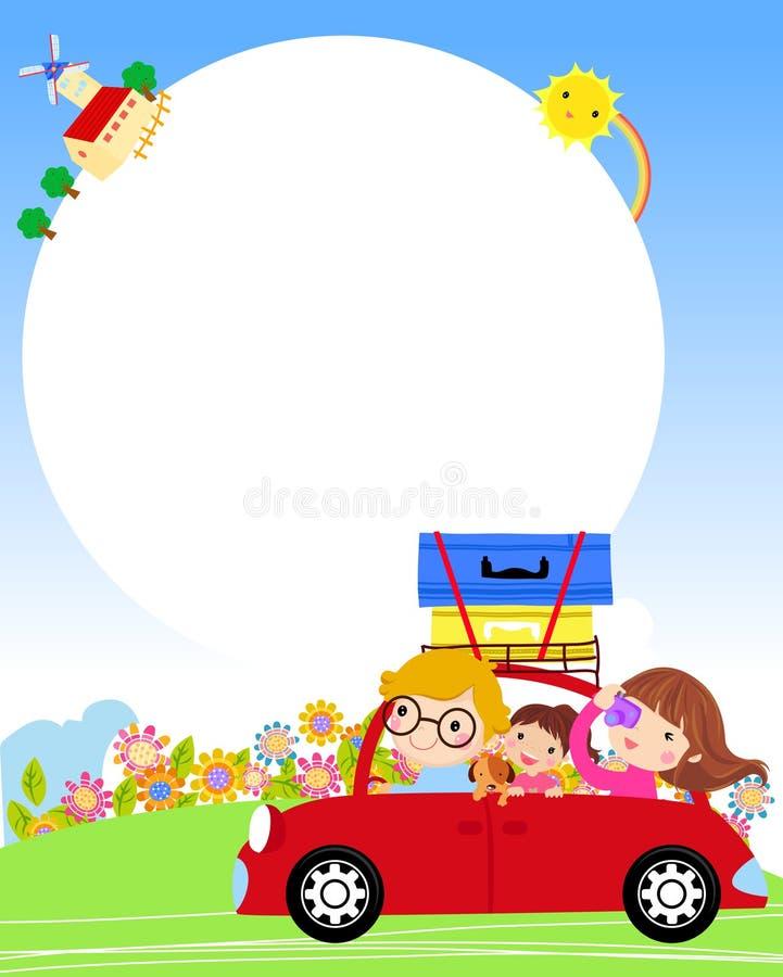 Family travel royalty free illustration