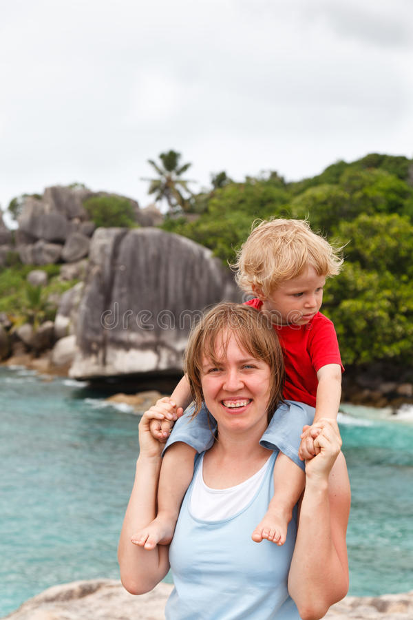 Family travel stock image