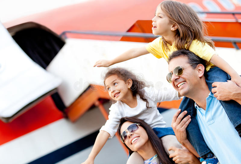 Download Family Traveling By Airplane Stock Photo - Image: 23845920