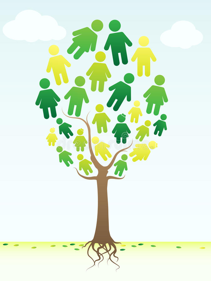 Family Tree. An abstract illustration of a family tree. Background placed on separate layer royalty free illustration