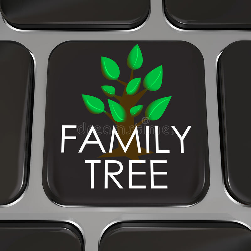 Free Family Tree Computer Laptop Keyboard Key Button Research History Royalty Free Stock Photography - 31996767