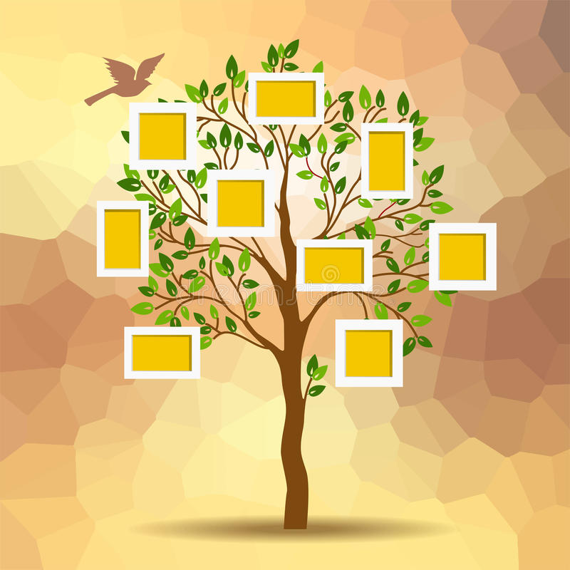 Family tree stock vector. Illustration of collage, instant - 43721458