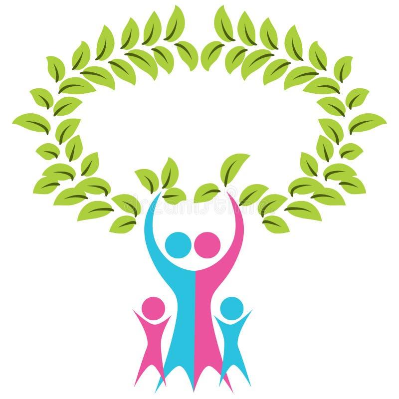 Family Tree Icon stock illustration