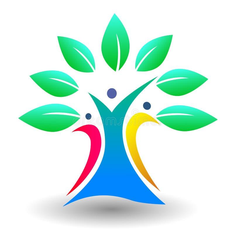 Family tree logo royalty free illustration