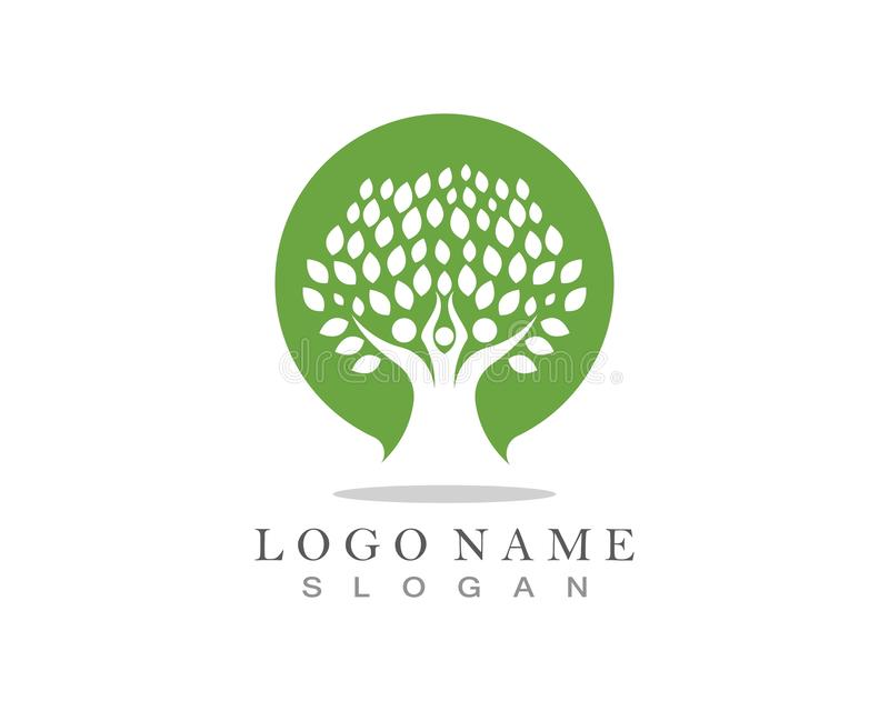 Family Tree Logo template. stock illustration