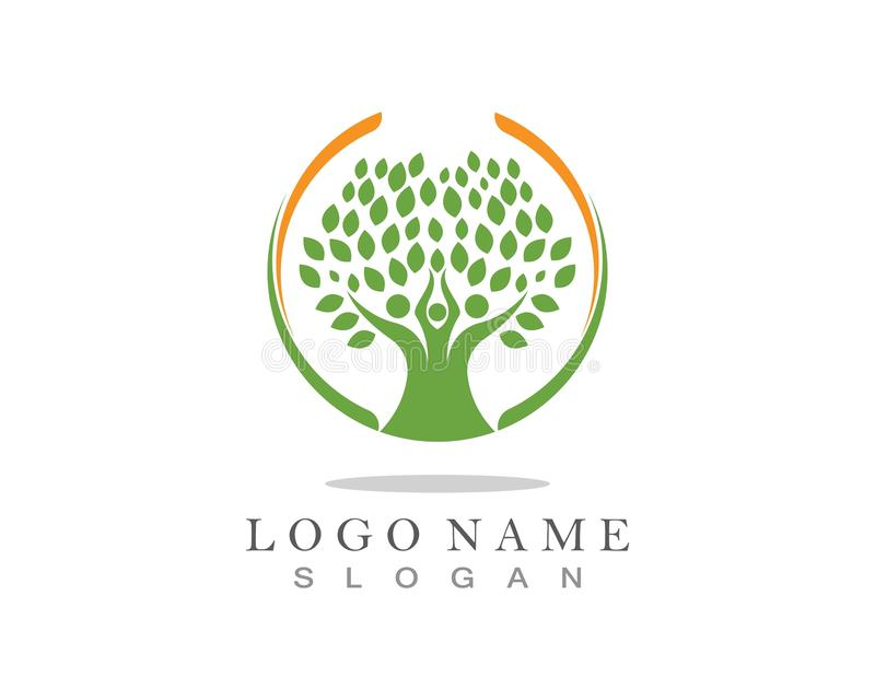 Family Tree Logo template. Family Tree Logo template aids baby beauty bird care charity children corporation ecology environment father friendship growth royalty free stock photos