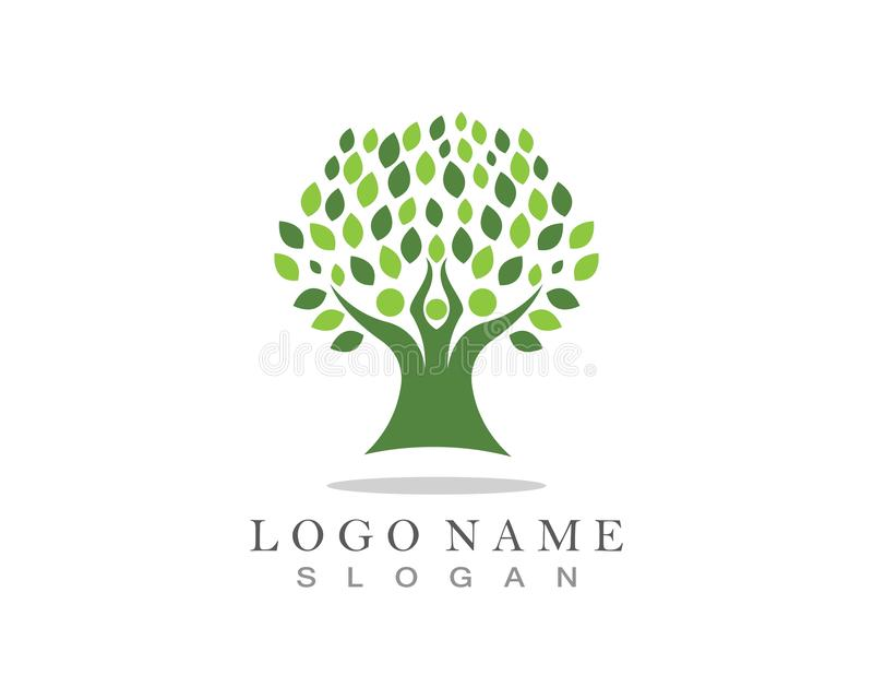 Family Tree Logo template. Family Tree Logo template aids baby beauty bird care charity children corporation ecology environment father friendship growth stock photography
