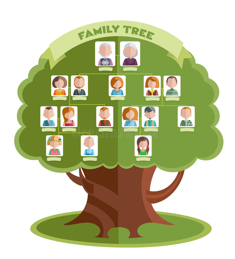 Family Tree Template Stock Vector Illustration Of History 82241106