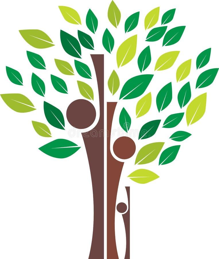Family tree. Vector illustration of family tree logo