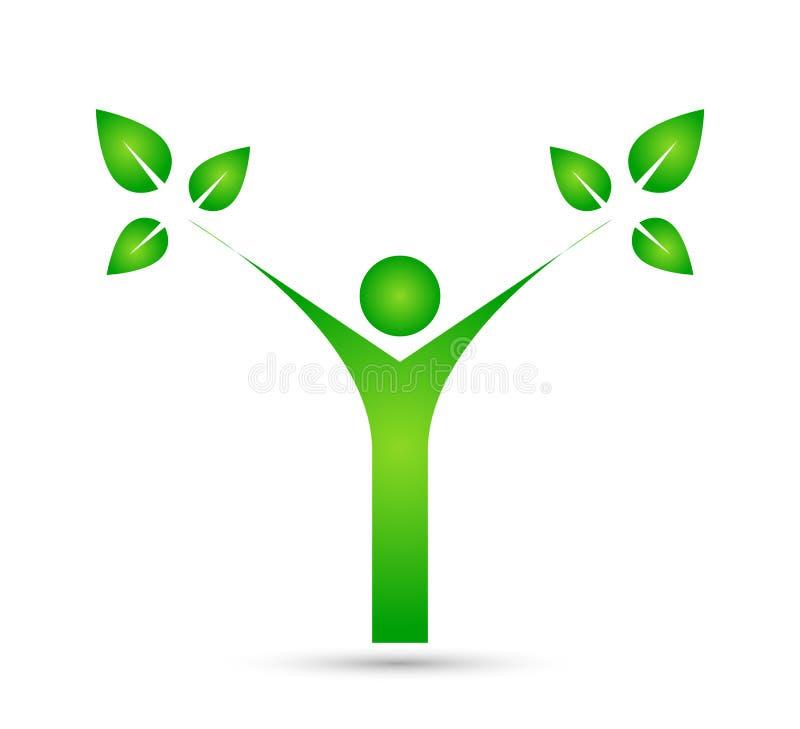 Family tree vector logo, illustration. vector illustration