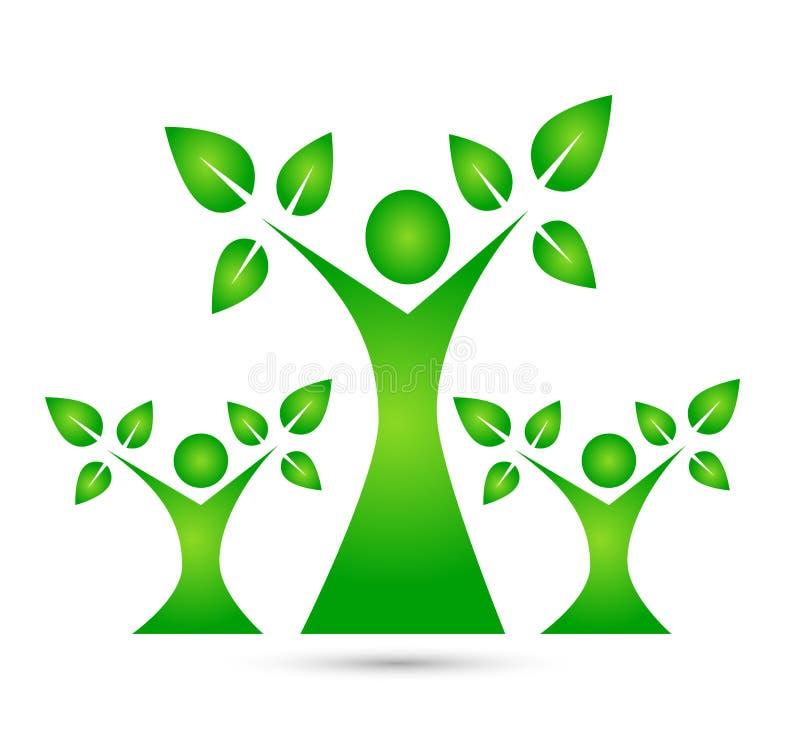 Family tree vector logo, illustration. royalty free illustration