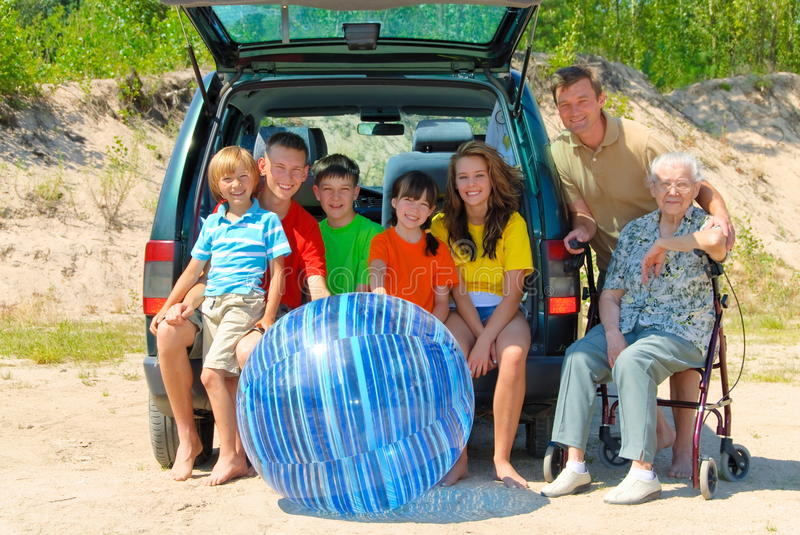 Family trip. Family travel together on their vacation