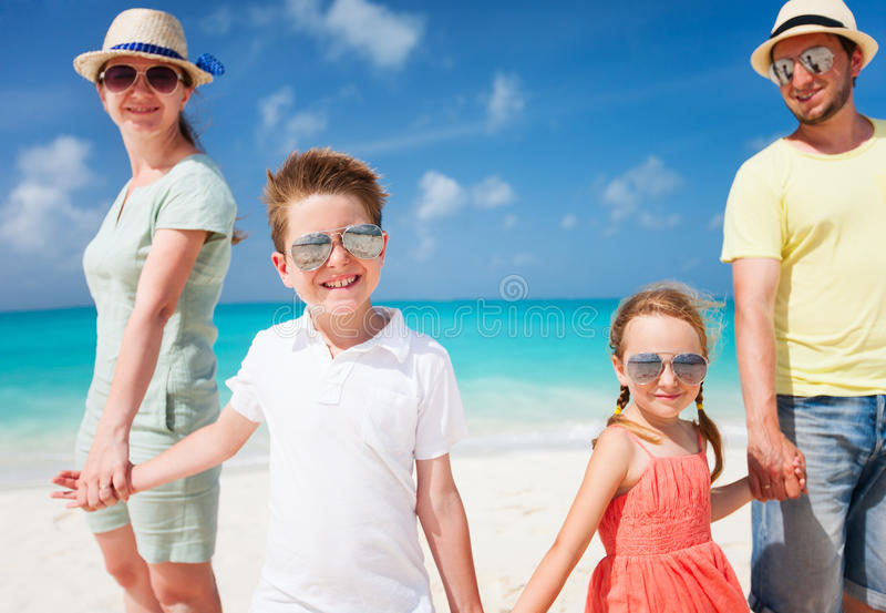 Download Family On A Tropical Beach Vacation Stock Photo - Image: 34023860