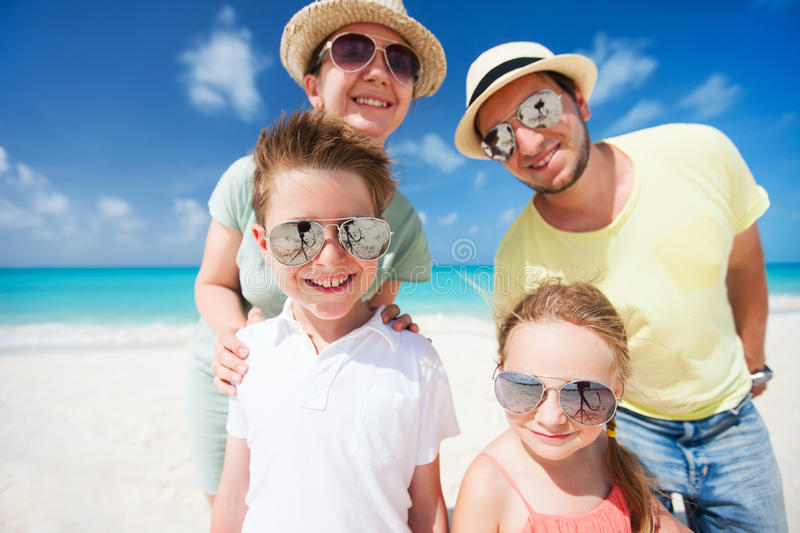 Download Family On A Tropical Beach Vacation Stock Image - Image: 34175831