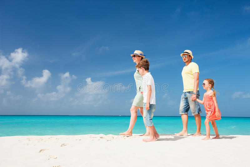 Download Family On A Tropical Beach Vacation Stock Photo - Image: 34175864
