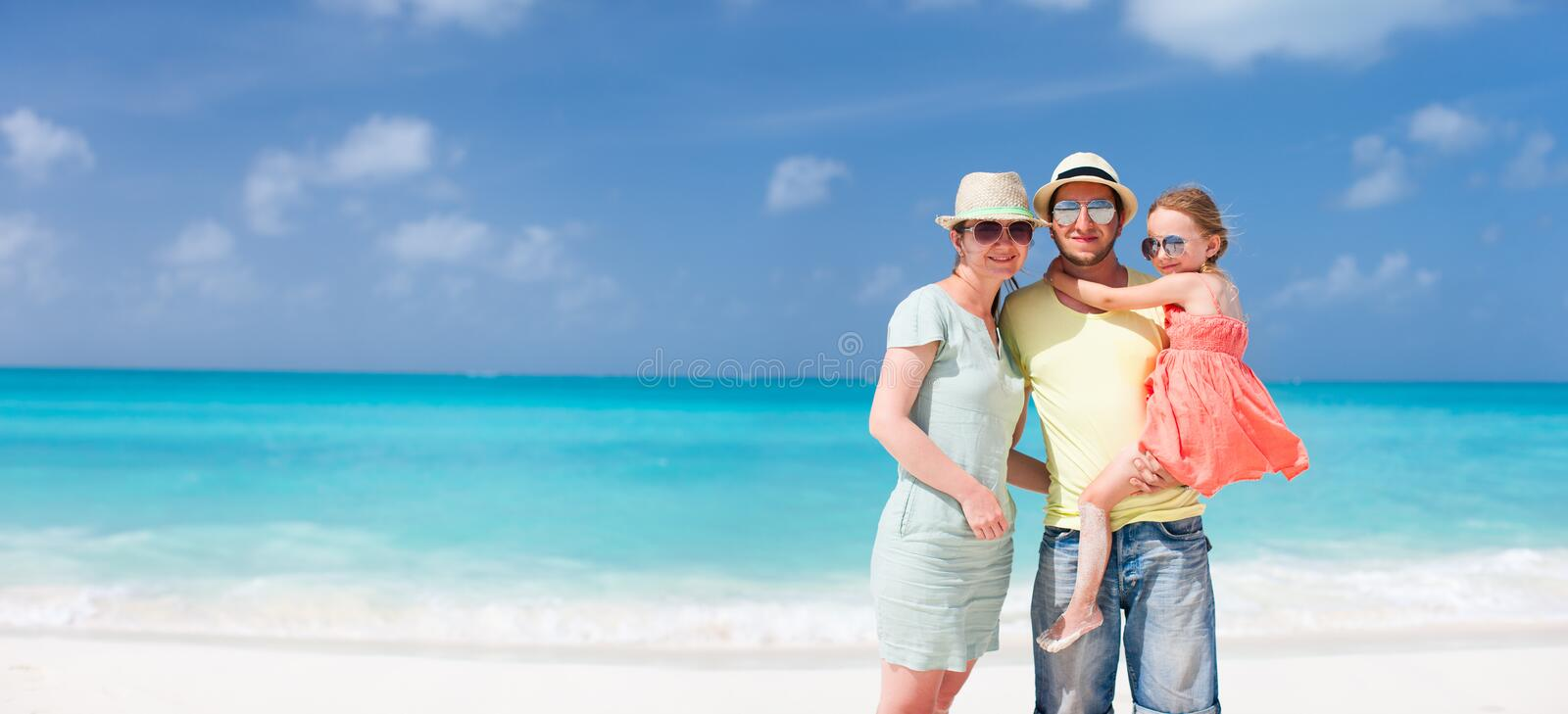 Download Family On A Tropical Beach Vacation Stock Image - Image: 34176071