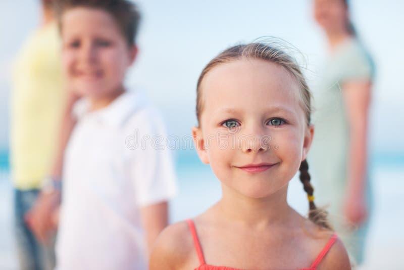 Family On A Tropical Beach Vacation Royalty Free Stock Photos