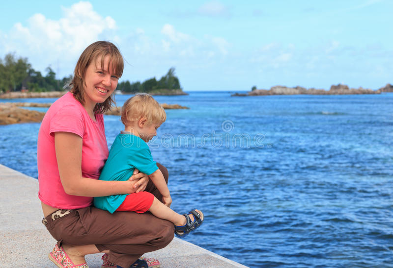 Family Tropical Vacation Stock Image
