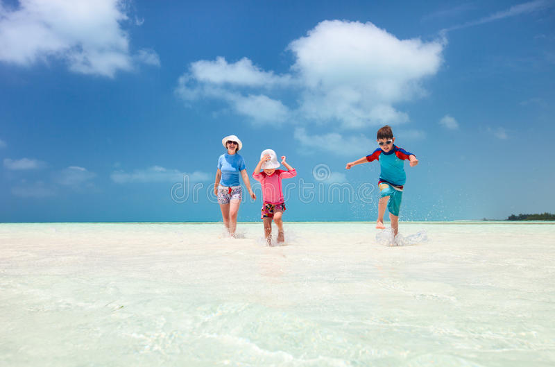 Download Family At Tropical Vacation Stock Photo - Image: 34355996