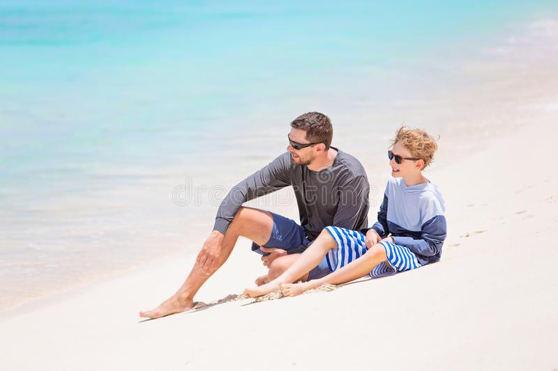 Family tropical vacation royalty free stock photos