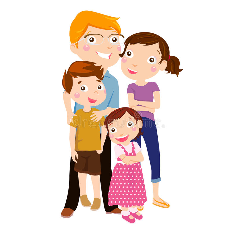 Family with two children royalty free illustration