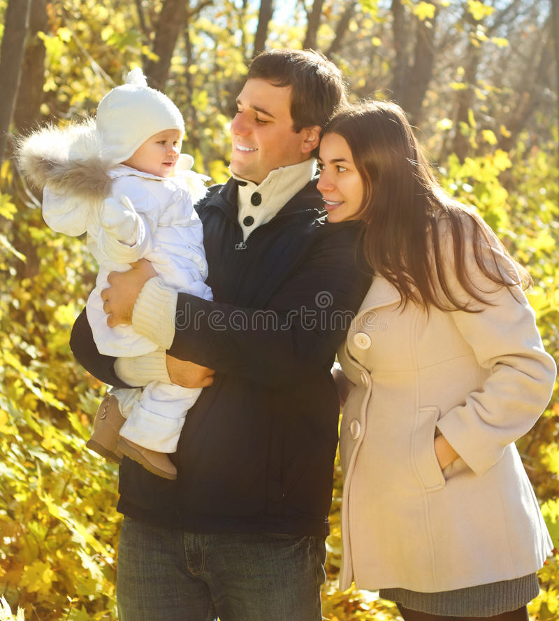Download Family With Two Daughters In Autumn Forest Stock Photo - Image: 25650180