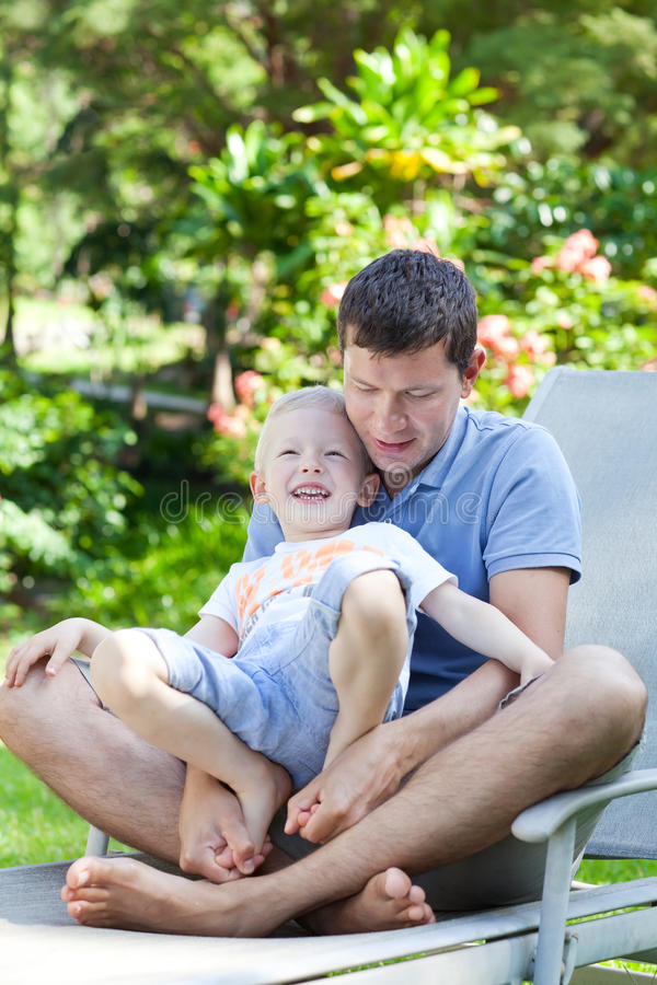 Download Family Of Two At Hawaii Vacation Stock Image - Image: 28441343