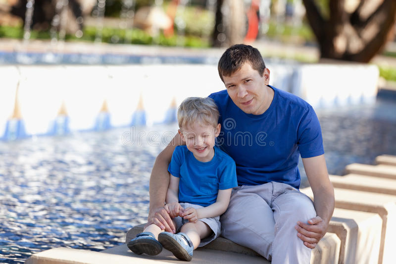 Download Family of two outdoors stock image. Image of park, looking - 31645897