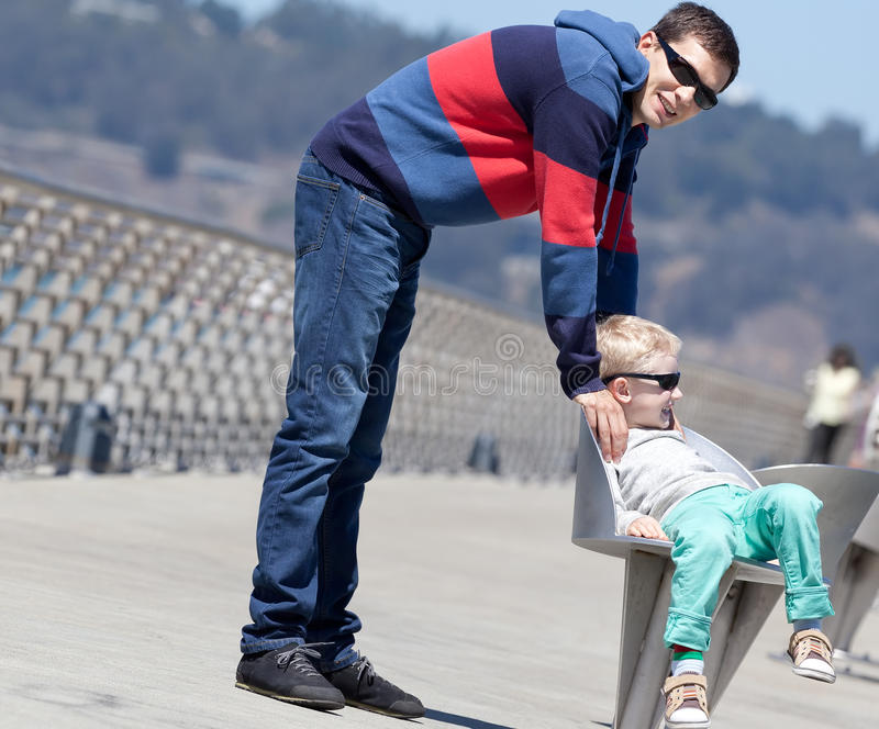 Download Family of two outside stock photo. Image of handsome - 32280546