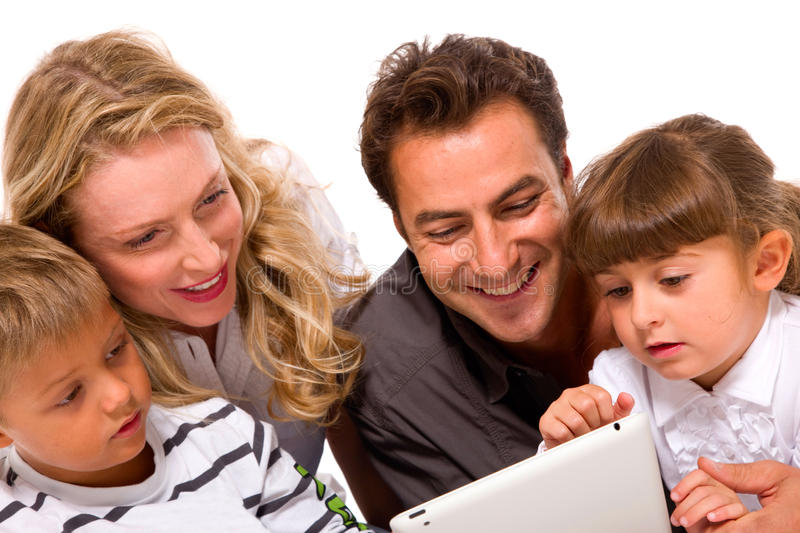 Download Family Using Digital Tablet Stock Photo - Image: 22359466