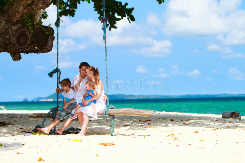 Download Family on vacation stock image. Image of coastline, happiness - 15386299
