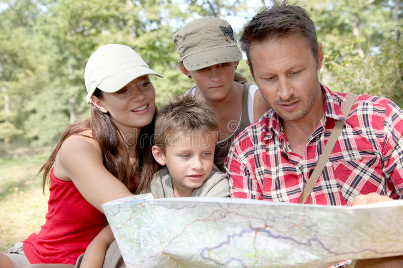 Download Family vacation stock image. Image of countryside, trek - 16281653
