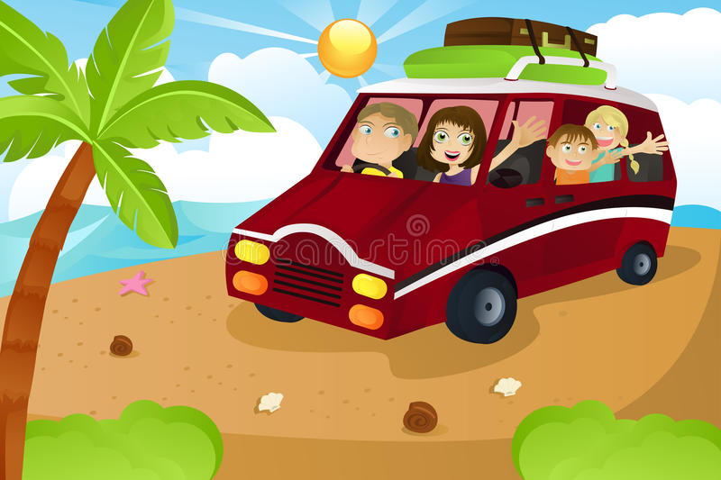 Download Family vacation stock vector. Image of automobile, mother - 19278995