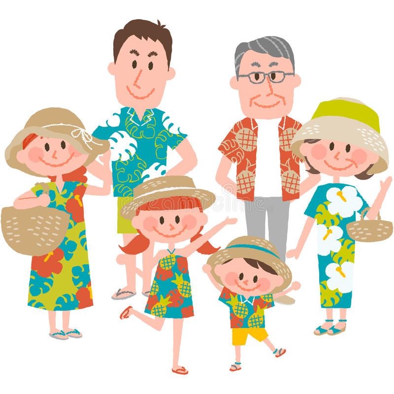 Download A Family Vacation On The Beachfront Stock Vector - Image: 90657654