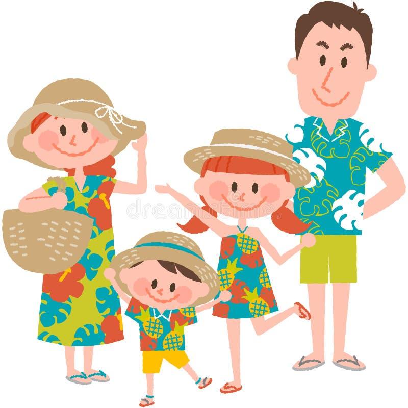 A family vacation on the beachfront stock photos
