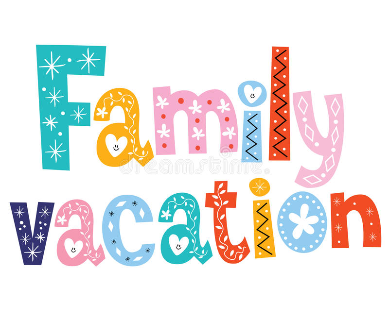 family vacation stock vector illustration of decorative 53514860 rh dreamstime com family vacation clipart free Family Vacation Logo