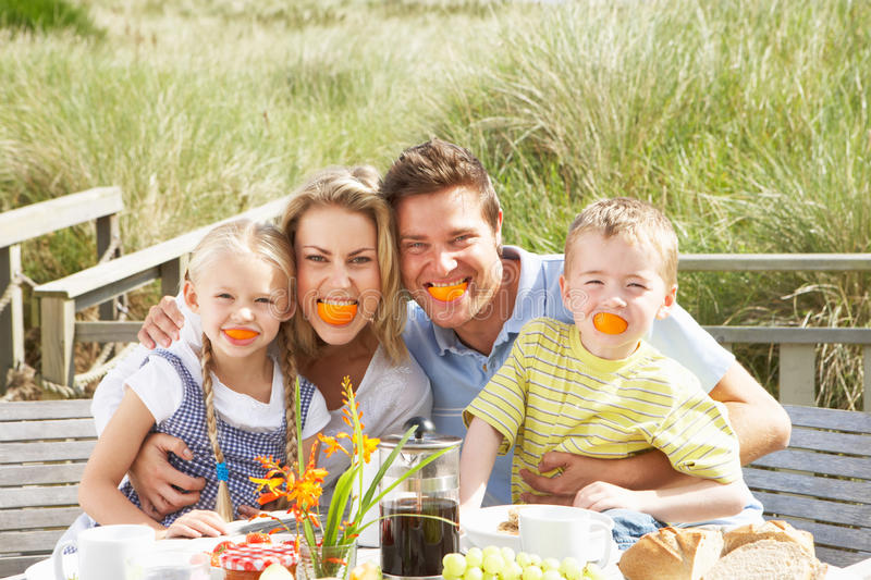 Download Family On Vacation Eating Outdoors Stock Photos - Image: 22777893