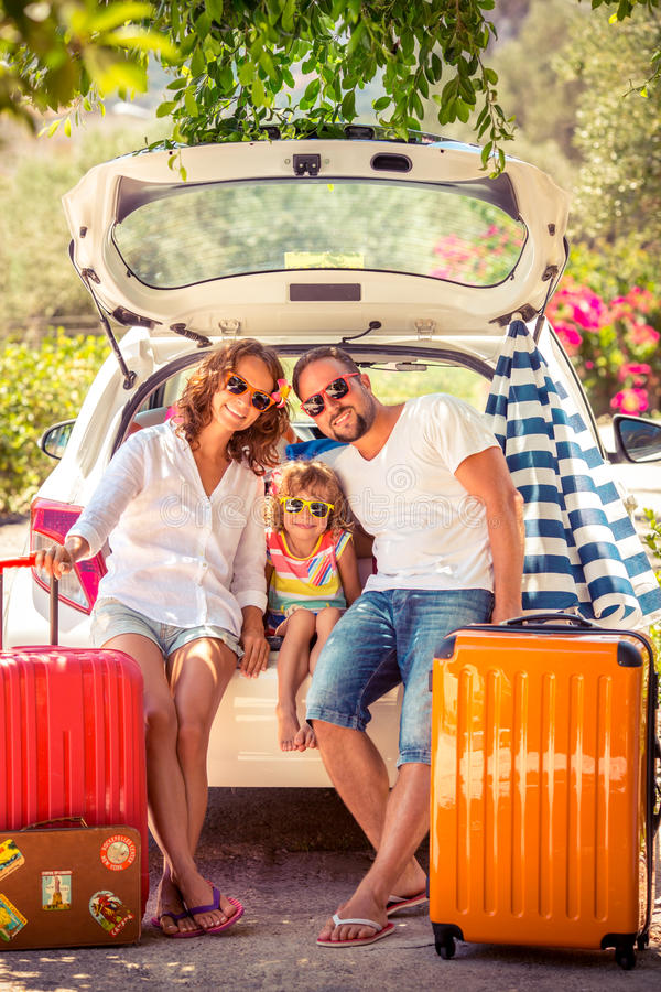 Family vacation stock photo