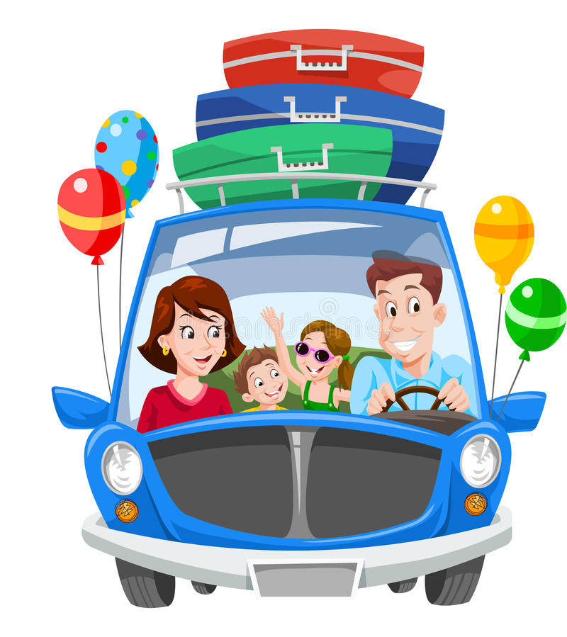 Family Vacation, illustration stock illustration