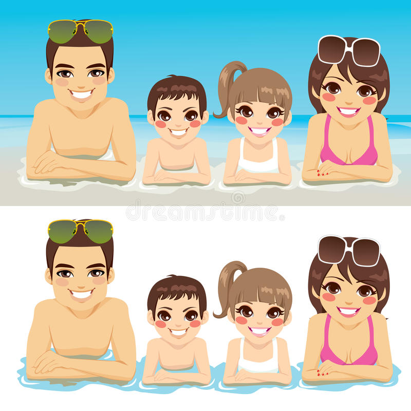 Family Vacation Together stock illustration