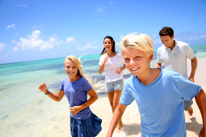 Download Family Vacation In Tropical Island Stock Photo - Image: 30582124