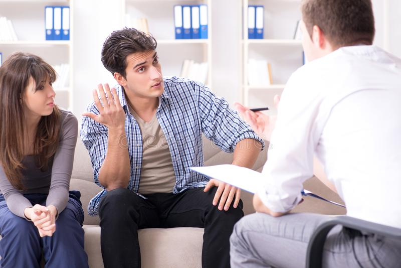 The family visiting psychologist for family problem. Family visiting psychologist for family problem stock image